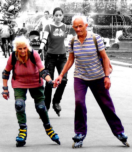 you're never too old... so much beter than a zimmer frame...